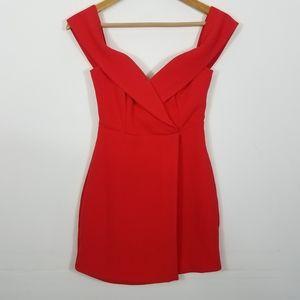 NBD Ferreira Mini Dress Red Sleeveless Short XXS